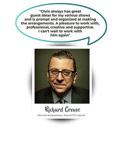 Richard Crouse - Film Critic Extraordinaire / Host of CTV's Pop Life